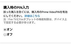 Amazonチャンネル「PIN入力」画面