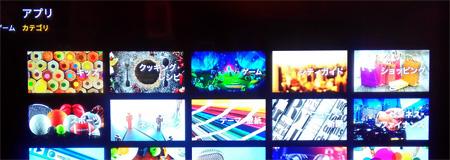 FireTV「アプリのカテゴリ一覧」画面