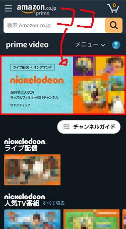 ニコロデオン「申し込み位置」画面