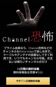 Channel 恐怖「申し込みページ」画面